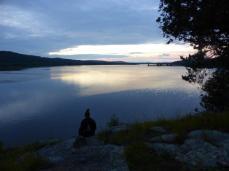2014.09 Obóz Klasztor11 - zachód słońca z Kamienia Michała