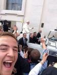2014.12 - Wlochy Papiez selfie